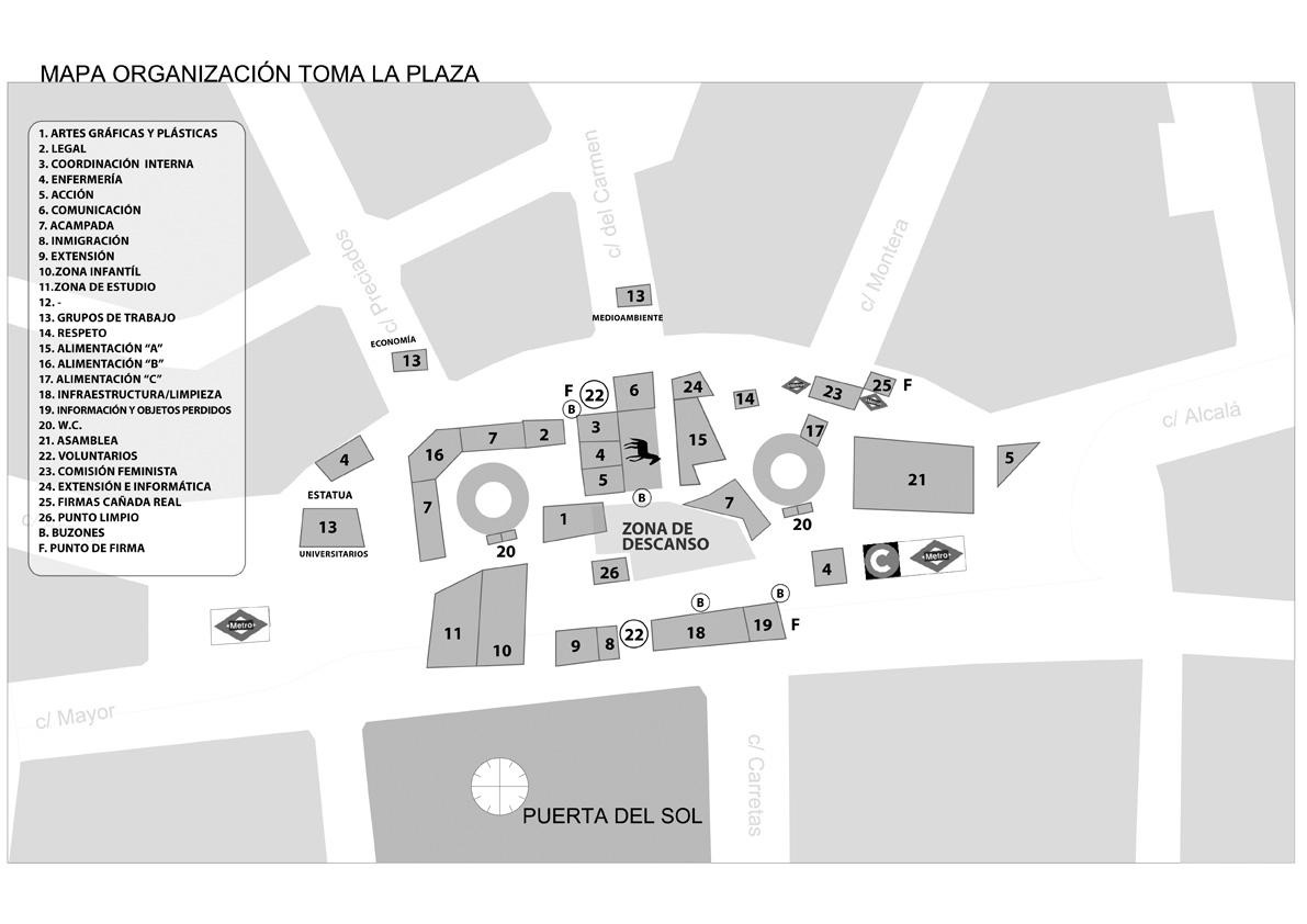 La spanishrevolution organizaci n y respaldo social for Puerta del sol en directo ahora