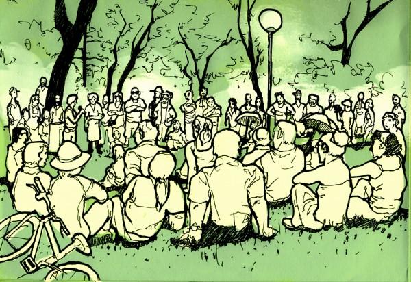 asamblea 15M (dibujo)